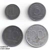 Geplantes Königreich Polen Set - 1 Fenig & 5, 10, 20 Fenigow 1918 - Polska