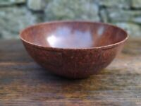 c1930's Vintage Seaforth Art Deco Mottled Brown Bakelite Fruit Bowl