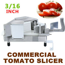 "3/16"" Commercial Tomato Slicer Fruit Vegetable Manual Cutter Tomato Cutting US"