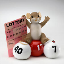 Charming Tails Take a Chance You Might Just Win Lottery Ticket Mouse Figure Luck