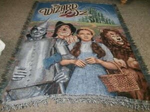 2015 Wizard of Oz Woven Tapestry Throw Blanket Judy Garland as Dorothy  46 x 58