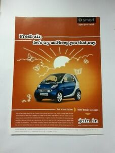 Smart ForTwo Advert from 2006 - Original Ad Advertisement For Two