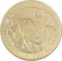 2018 100 Shillings Somalia Elephant Coin - 1 oz Silver (Dog Privy)