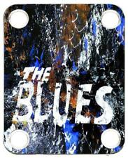 Neck Plate for Fender Guitar Color Graphic P J Bass Strat Tele Blues 1