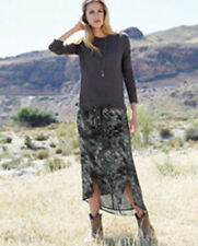 Calf Length Viscose Hippy, Boho Regular Skirts for Women