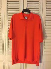 Men's Under Armour Loose G 00004000 olf Polo Shirt Cypress Lakes Travis Afb Orange Size L