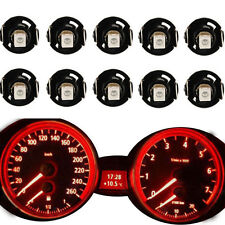 10pcs Red T4/T4.2 Neo Wedge LED Bulb Cluster Instrument Dash Climate Base Lights