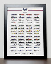 Williams Formula 1 history poster - Formula One - F1