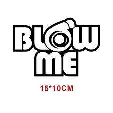 Blow me turbo Decal Funny Car Vinyl Sticker Euro JDM Racing Window Decal White s