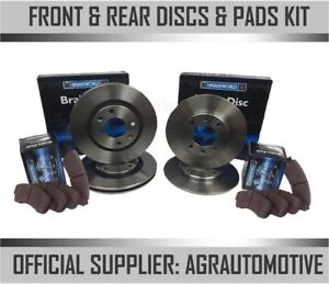 OEM SPEC FRONT + REAR DISCS AND PADS FOR DAEWOO MUSSO 2.9 TD 1999-00