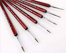 Kolinsky Sable Hair Detail Liner Paint Brush Miniature Watercolor Oil Acrylic