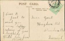 Miss B Gant. Heigham Roiad, Norwich 1907 - Bertha  RH.294