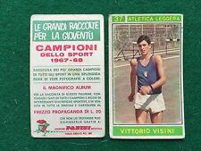 CAMPIONI DELLO SPORT 1967-68 n.37 Vittorio VISINI ATLETICA Figurina Panini (NEW)