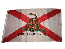 3x5 Gadsden Don't Tread On Me Alabama State Premium Quality Flag 3'x5' Banner