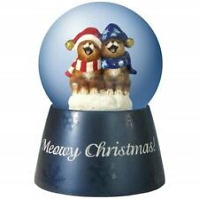 Snow Globe Meow Christmas Caroling Cats Musical Holiday Figurine Westland Gifts