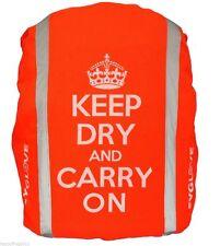 CYGLOVE Bike Hi-Viz Reflective Hump Backpack Bag Rucksack Cover ORANGE Keep Dry