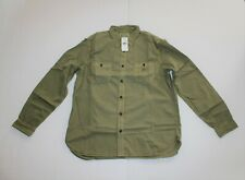 Ralph Lauren Denim and Supply Long Sleeve Poplin Workshirt Size XXL in Green