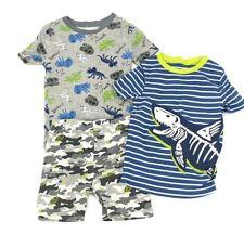 Members Mark Boy Favorite Pajamas Set of 3 Size 7 Dinosaur Blue Gray 100% Cotton