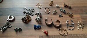 21 x Job Lot Bundle Vintage Retro Modern Earrings Pierced Ears  Hoops Studs