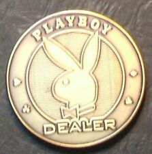 (1) Playboy Dealer Button - Large Size - Brass - Hard To Find