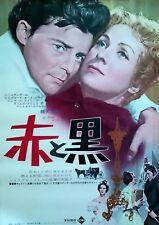 Le rouge et le noir Danielle Darrieux Gérard Philip jp original movie poster 62R