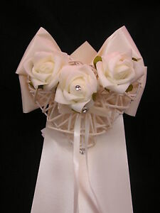 10 Wedding Church Pew Ends flowers decorations  'DORA' Personalised any Colour