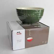 "STAUB Large Ceramic SOUP/SALAD/CEREAL Bowl 6.5"" (17cm) 1.2 Qt. Basil Green NEW"