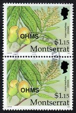 Montserrat: Caribbean Fruits (OHMS); vertical pair of $1.15 (Mango); fine used