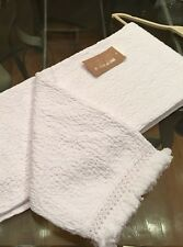 Awesome INUP Home White Cotton Matelasse Textured Throw Blanket (Made In Portugal)