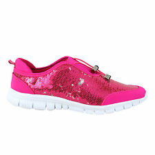 Ladies Womens Trainer Gym Go Fit Casual Walk Fitness Glittery Toggle Girls Shoes