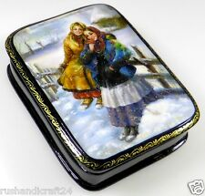 Deux filles lackmalerei Fedoskino Russian lacquer box LACKDOSE Fedoskino