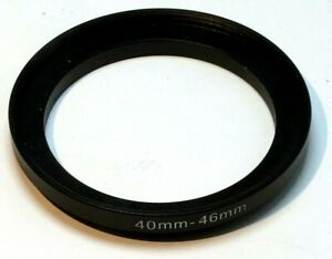 40mm to 46mm Step-up ring Metal adapter  double threaded for lens filter