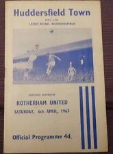 Huddersfield Town v Rotherham United, 6 April 1963