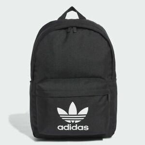 Adidas Adicolor Backpack Classic Black Backpack White Trefoil /School/Gym Bag