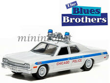 GREENLIGHT 44710 D THE BLUES BROTHERS 1980 1974 DODGE MONACO CHICAGO POLICE 1/64