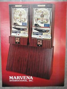 Pachinko Slot Machine Flyer Original Marvena Brochure