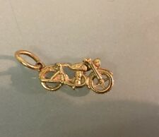 9ct Gold 'Old Motorbike' Style Pendant/Charm Weight 3.36g Lots of Detail Stamped