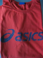 asics Herren T-Shirt Freizeit Sport Fitness Männer Gr. XXL Rot mit Aufschrift