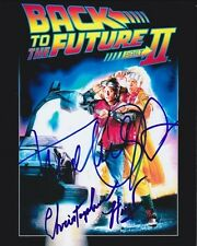 MICHAEL J. FOX CHRISTOPHER LLOYD Signed BACK TO THE FUTURE Photo w/ Hologram COA