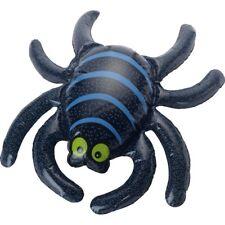 Large Black + Blue Inflatable Spider 44x34cm Party Decoration Prop
