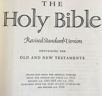 Vintage Holy Bible Revised Standard Version Nelson Hardcover 1953