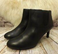 Womens Clarks Dancer Sky Black Leather Zip Up Mid Heel Ankle Boots UK 6.5 EUR 40