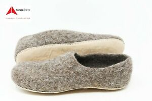Size 42-100%Felt,Wool Women's/Men's Slipper Mules,Shoes Natureal Handmade nepal