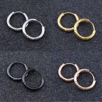 Fashion Simple Punk Stainless Steel Ear Stud Dangle Hoop Earrings Jewelry 10mm