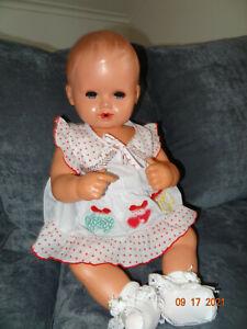 Alte Baby Puppe Strampelchen 60 cm   50-60er Jahre, kein Schildkröt mit Stimme