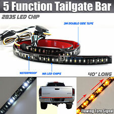 Sequential Flowing Signal Light LED Strip Tailgate Bar Brake Reverse Truck SUV