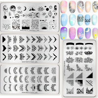 BORN PRETTY Nail Art Stamping Plates French Design Image Stamp Templates Tool