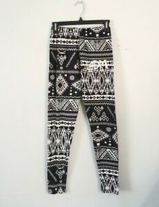 Is This A Wise Choice LADM LA Dance Legging Size Small Black Aztec Print