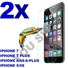 2X Scratch Resist Tempered Glass Screen Protector for iPhone X 8 7 7 plus 6s 6+