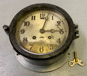 Vintage Chelsea Ship's Bell Clock for restore project